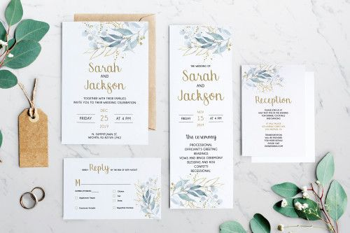 Wedding Invitation Greenery Wedding Invitation Kit Detail Card Rvsp Invitation Kits Wedding Invitations Whimsical Wedding Invitations