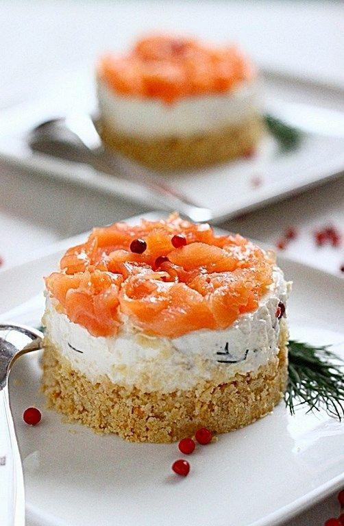 Cheesecake di salmone e ricotta: