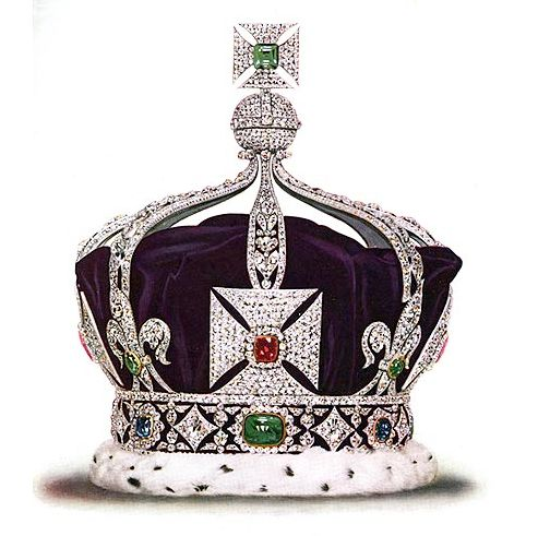 The Imperial Crown of India has more than 6,000 diamonds and includes rubies, sapphires and emeralds. Read more: http://www.people.com/people/package/gallery/0,,20395222_20447706,00.html#21167048