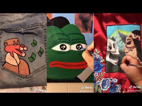 Tiktok Painting Compilation 01 Youtube Painting Drawings Get Free Likes