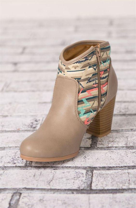 Aztec Ankle Boots {Jane Deals}: