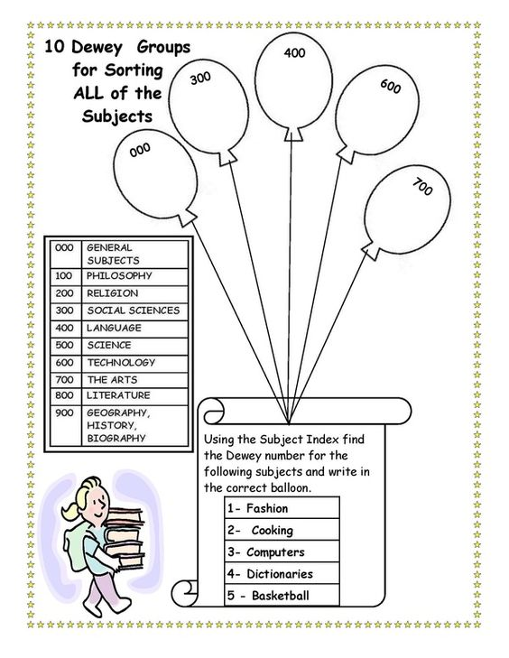 dewey decimal balloon worksheet for grade 2 purely printable pinterest grade 2 worksheets. Black Bedroom Furniture Sets. Home Design Ideas