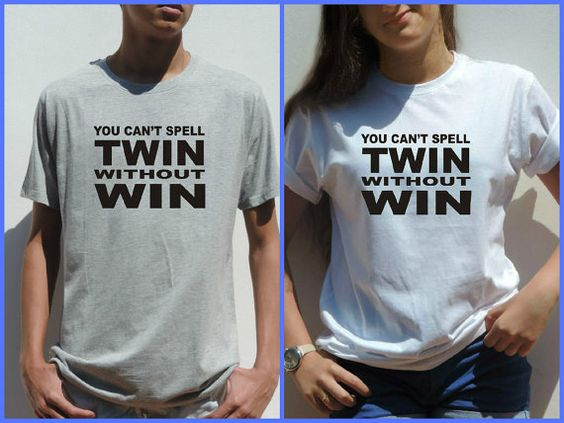Adult twins humorous clothing