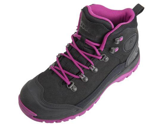 DOGGO Bruno Outdoor-Schuhe fuchsia schwarz. Dieser sportliche Hikingstiefel #Bruno von #DOGGO wurde für Hundebesitzer hergestellt und besteht aus hochwertigem Leder und geöltem Canvas. Das robuste Obermaterial macht den Stiefel langlebig, alltags- und geländetauglich. Ein rundum zuverlässiger Outdoor Schuh, der etwas anderen Art. Gr. 37-42