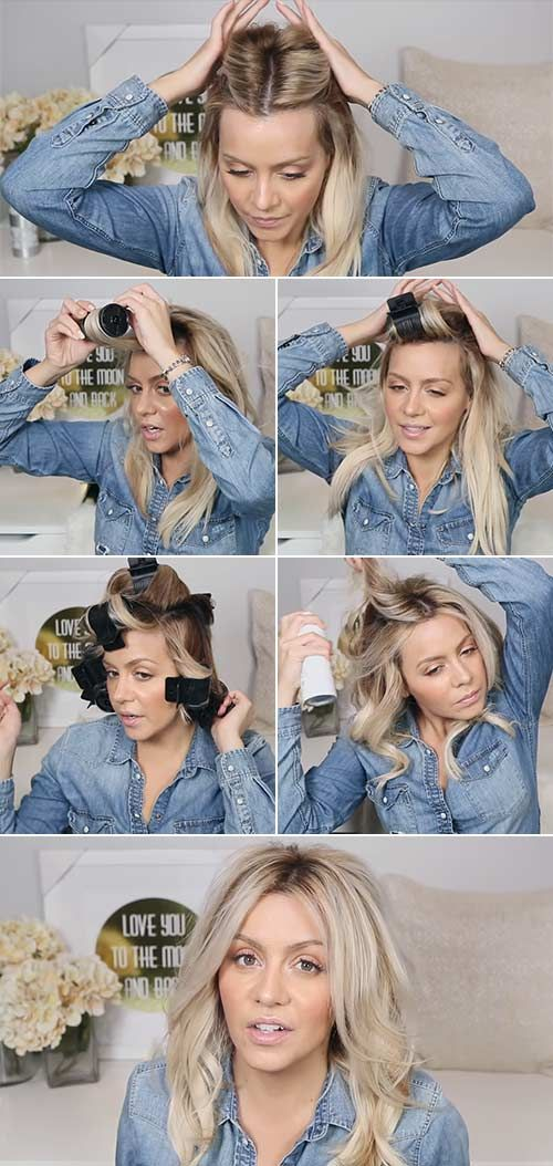 14 Easy Ways To Style Your Hair In Perfect Beach Waves Hot Rollers Hair Beach Wave Hair Perfect Beach Waves