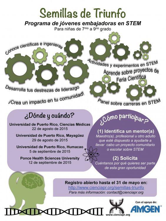 Semillas de Triunfo – Programa de Jóvenes Embajadoras en STEM | Ciencia Puerto Rico