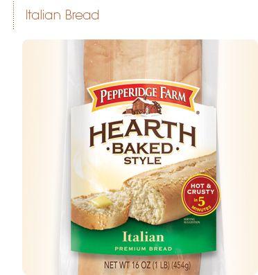 Pepperidge Farm® - Hearth Baked Style Italian Bread