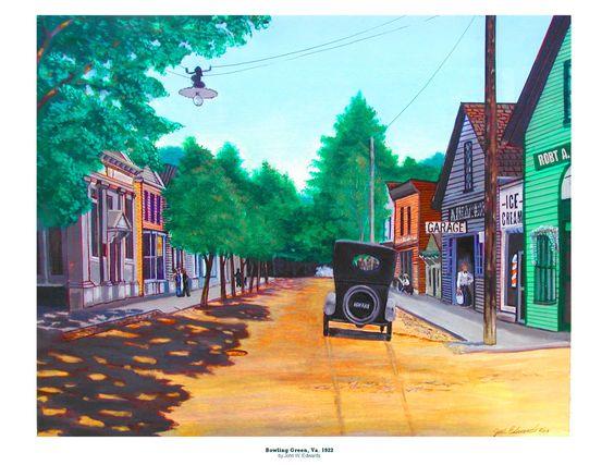 Bowling Green, Va. 1922.  Main street intersection.