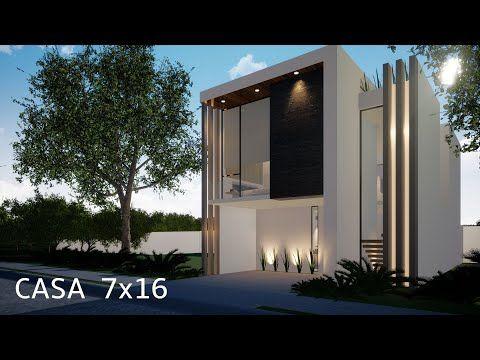 Casa 7x16 Mts House 7x16 Mts Recorrido Virtual 3d Youtube Videos De Casas Planos De Casas Fachada De Casas Mexicanas
