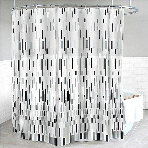 Splash Home Bars Peva Shower Curtain In Grey Bars For Home Shower Curtain Track Fabric Shower Curtains