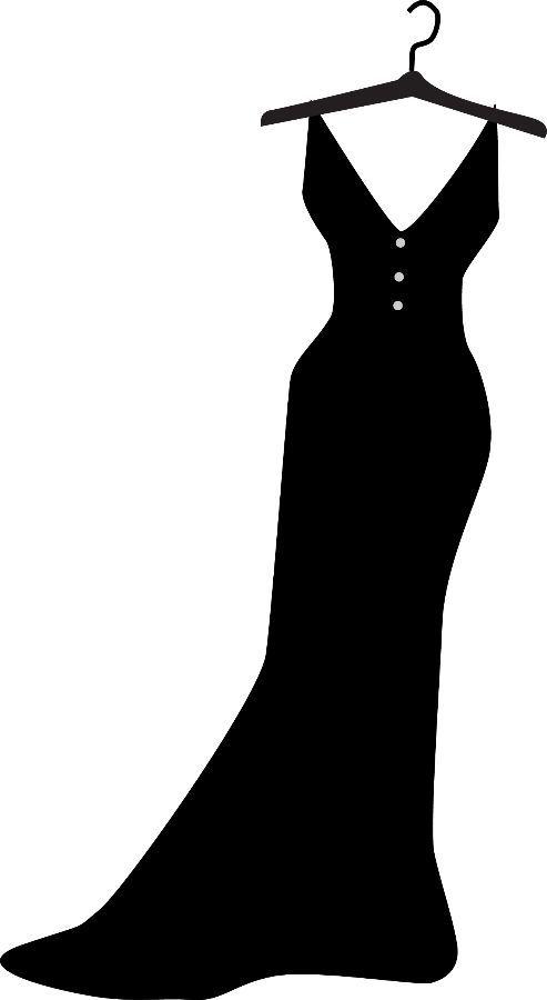 Clothing Clipart Silhouette Dress Templates Quilt Dress Fashion Illustration