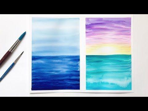 Ocean Watercolor Painting Tutorial Watercolor Ideas For