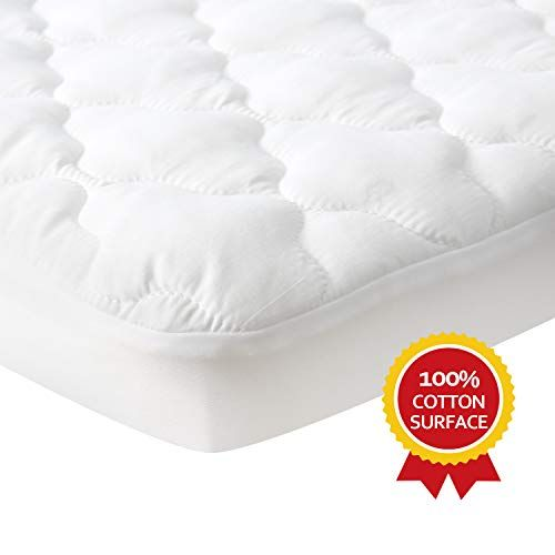 Waterproof Pack N Play Mattress Pad Protector Comfortable And Durable Cotton Fabric Fitted Baby Portable Mini Crib In 2020 Pack N Play Mattress