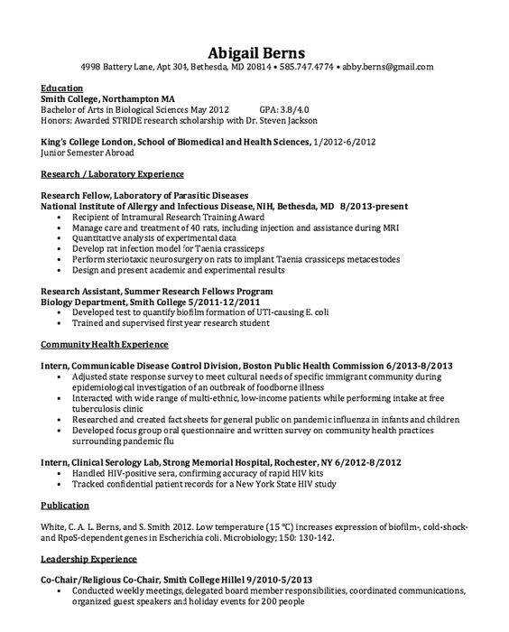 clinical serology lab resume sample http resumesdesign com