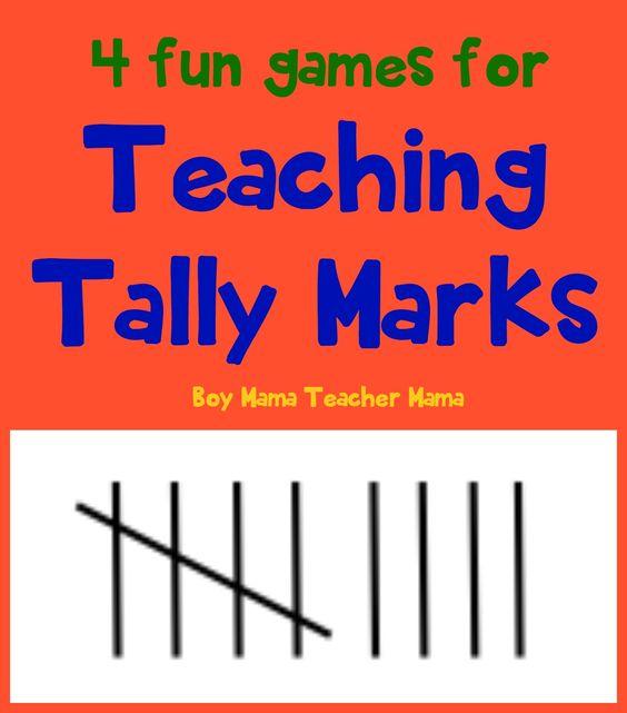 4 Fun Games for Teaching Tally Marks Tally marks are fun to teach ...