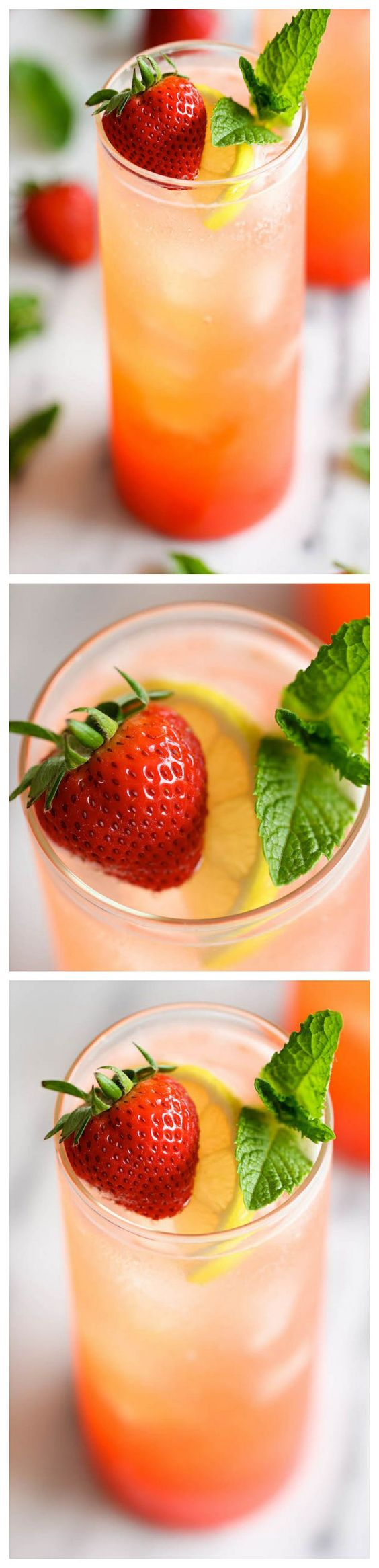 Sparkling strawberry lemonade, Strawberry lemonade and Lemonade on ...