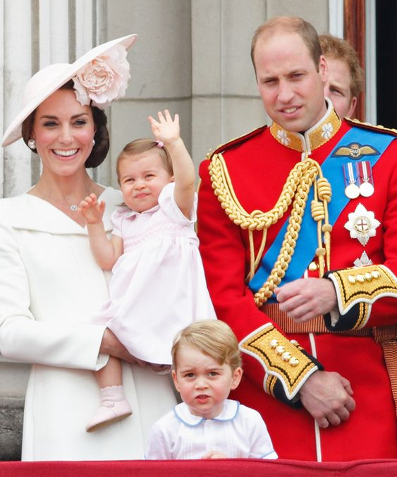 11 of Kate Middleton's Cutest Mommy Moments with Her Little Prince and Princess - Princess Charlotte Makes Her Balcony Debut from InStyle.com