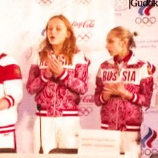 No, my best friend is Maria Paseka. She's very joyful, smiling, positive. We spent most of the time together. She never cries. - Viktoria Komova (when asked if Aliya Mustafina was her best friend) // ... Is there a friendship name for them yet?
