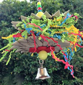 Bird Toys Medium AND Large Bird TOY Natural Palm Foraging Shredding Bird TOY   eBay