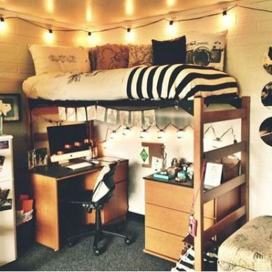 50 Cute Dorm Room Ideas That You Need To Copy | Dorm Room, Dorm And Short  Wavy Hairstyles Part 34