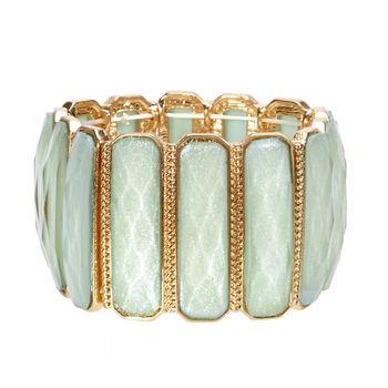 Natasha Pastel Stretch Bracelet   from Von Maur #VonMaur #StyleCorner #Mint #BoldBracelet