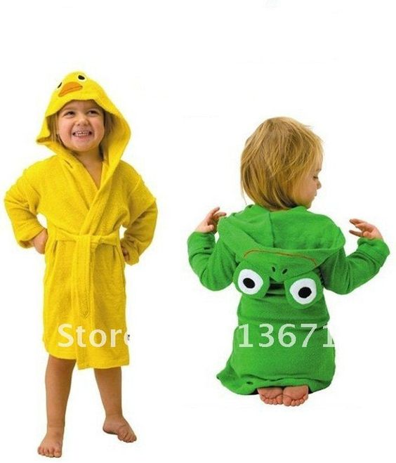 retail HOT SELL new design Terry Bathrobe - Hoodie/Hoody Costume Bath Towel Baby Robe - Kids Robes Baby Cartoon Hooded $12.00