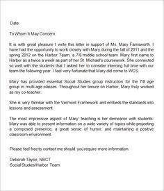 StudentTeacher Recommendation Letter Examples  Letter Of