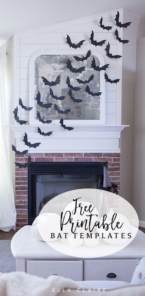 halloween garland   bat halloween garland  halloween classroom decor  bat print garland  halloween fireplace  farmhouse halloween