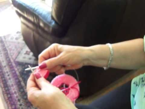 Vídeo aula. capa de bebê em tricô Parte 1