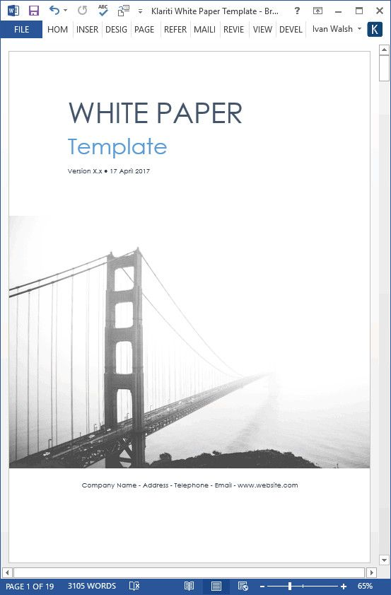 White Paper Template Word Trendy White Papers Ms Word Templates