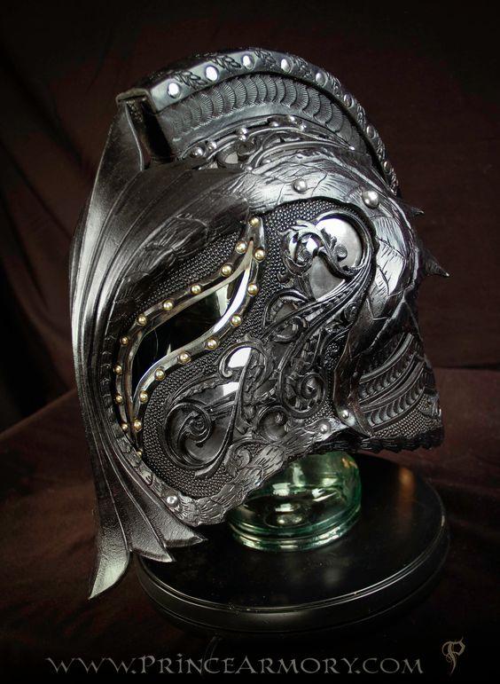 Fantasy skull helmet dragon crusader helmet by azmal costume cosplay