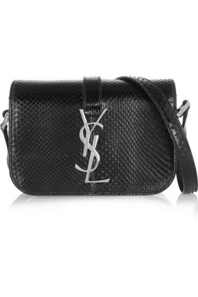 ysl small monogram bag - SAINT LAURENT Monogramme Sac Universit�� small glossed-python ...