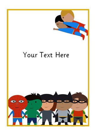 Here is some superhero-themed notepaper that could be used to make mats for station activities.