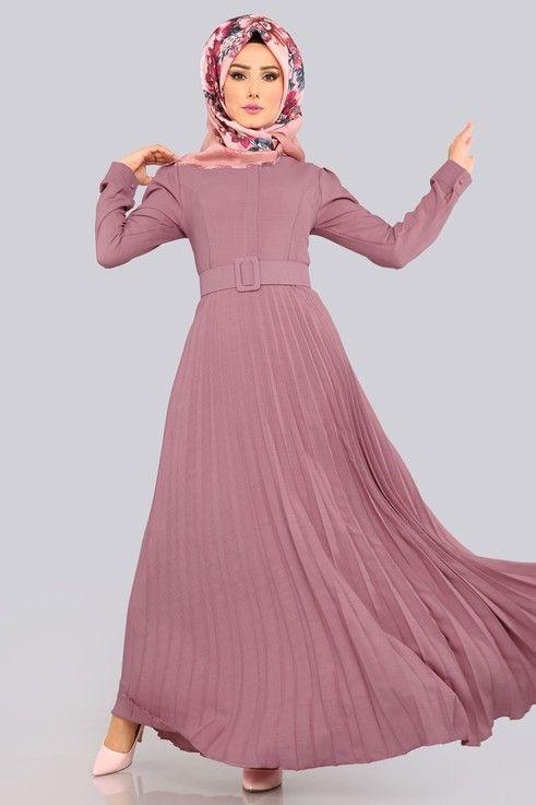 Modaselvim Elbise Pilise Etekli Elbise Lrj502 S Gul Kurusu Giyim Elbise Fotograf