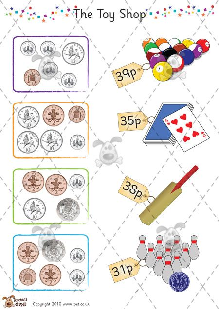 Simple counting money worksheets for adding up different amounts ...
