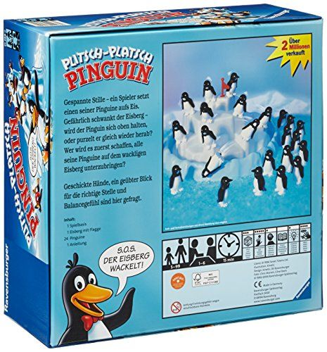 """Ravensburger 21288 - Kinderspiel Plitsch-Platsch Pinguin"""""""