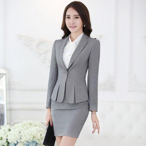 barato formal saias ternos blazer e casaco define moda feminina ternos uniforme escrit rio. Black Bedroom Furniture Sets. Home Design Ideas