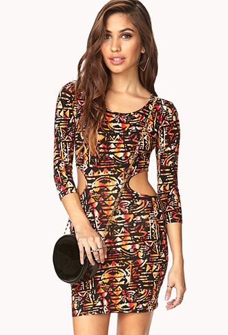 Globetrotter Cutout Dress | FOREVER 21 - 2000129363  #ForeverHoliday