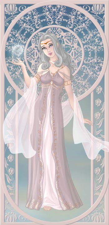 Séléné, déesse de la lune (on azalea's dolls):