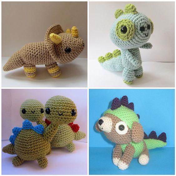 Digital Download Only the Dinosaurs! amigurumi | Knitting/crochet ...