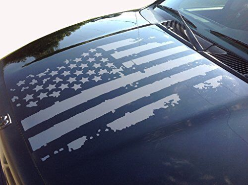 Excited To Share This Item From My Etsy Shop Distressed American Flag Decal Americanflagdecal Americanflag Jeep Hood Decals American Flag Decal Flag Decal