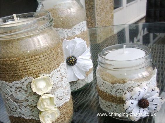 jam-jars-tea-lights-wedding-ideas-hessian-and-