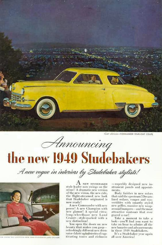 Studebaker Car Ads | Old Car Ads Home | Old Car Brochures | Old