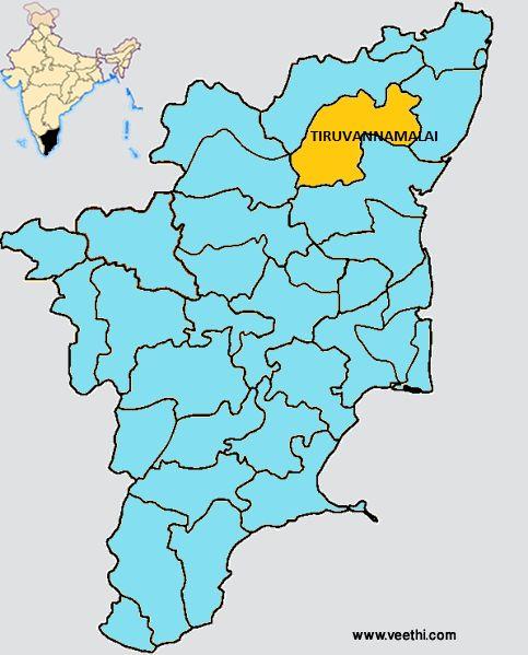 Tiruvannamalai District Map