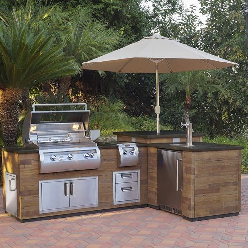 Island Time The Backyard Runs On Island Time Make It Happen Make It Yours Get Your With Images Outdoor Kitchen Island Prefab Outdoor Kitchen Outdoor Kitchen Kits