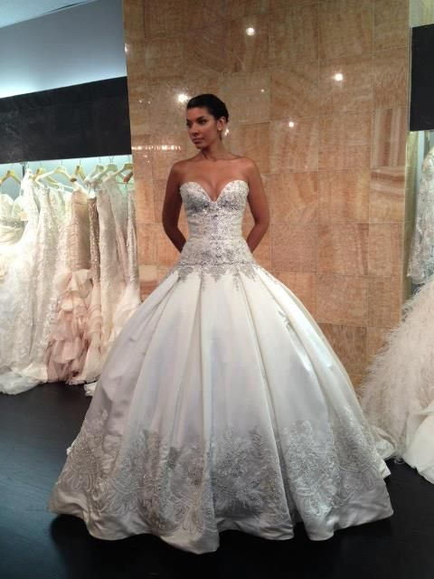 perfect ball gown shape, shows off the body but still has a princess feel