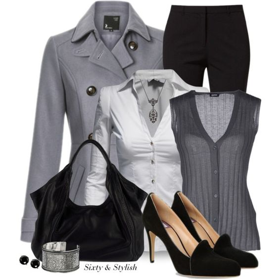 """Gray Skies"" by sixty-and-stylish on Polyvore"