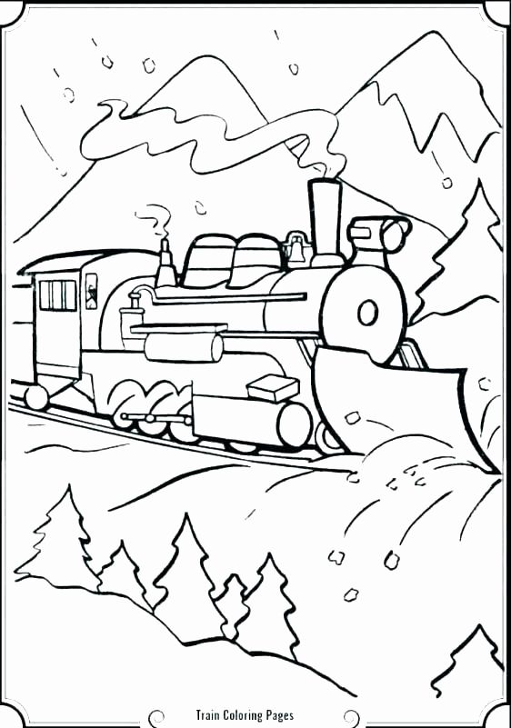 Freight Train Coloring Page Fresh Polar Express Color Pages