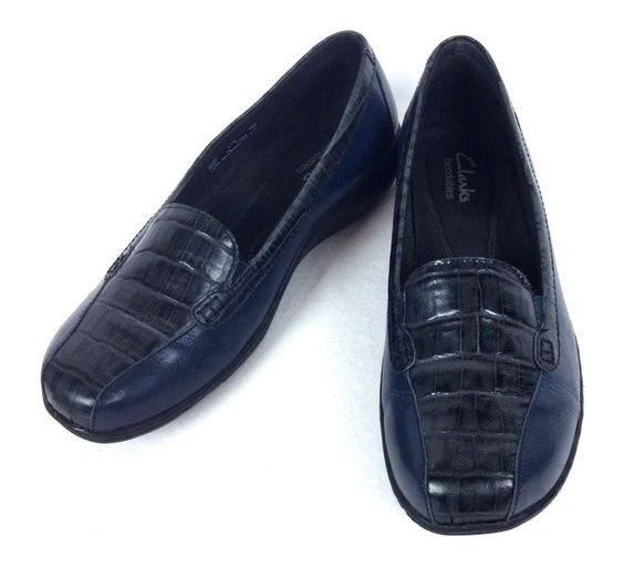 Clarks Womens Shoes Navy Blue