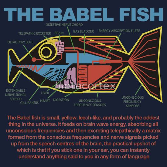 Hitchhikers Guide to the Galaxy - Babel FIsh NEEEED!!!<....... This, everybody, is how the missionaries at the MTC learn the languages!